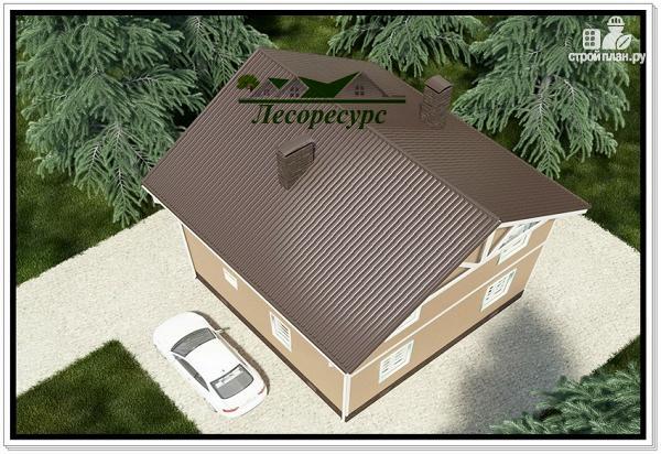 Фото 6: проект каркасный дом 8 на 8 с эркером