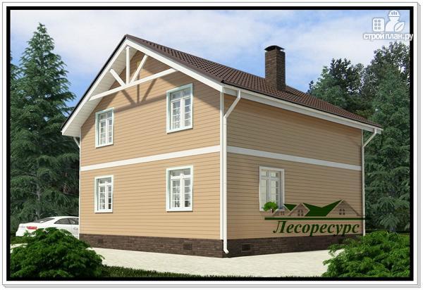 Фото 3: проект каркасный дом 8 на 8 с эркером