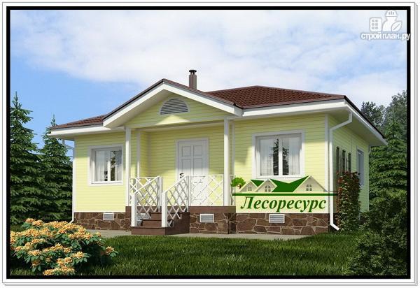 Фото: проект каркасный дом с вальмовой крышей