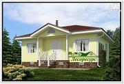 Фото: каркасный дом с вальмовой крышей