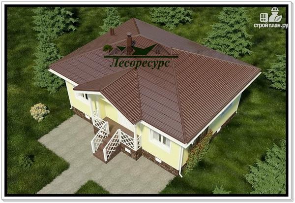 Фото 4: проект каркасный дом с вальмовой крышей