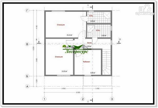 Фото 5: проект каркасный дом 8 на 8 с двумя этажами