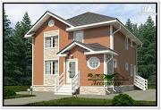 Проект каркасный дом 8 на 8 с двумя этажами
