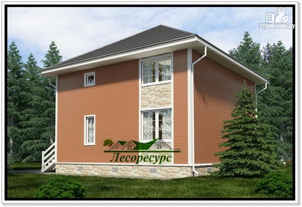 Фото 3: проект каркасный дом 8 на 8 с двумя этажами