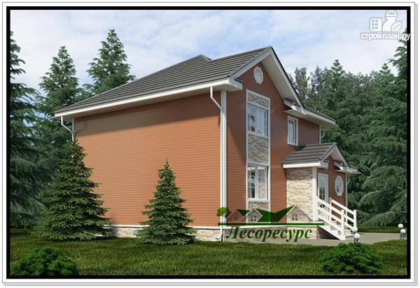 Фото 2: проект каркасный дом 8 на 8 с двумя этажами