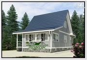 Проект каркасный дом 6 на 10 с мансардой