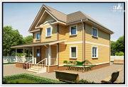 Проект оригинальный каркасный дом