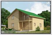 Проект дачный дом из бруса 8 на 8