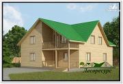 Проект дом из бруса 9 на 11 с мансардой