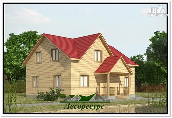 Фото: проект дачный дом 7 на 9 из бруса