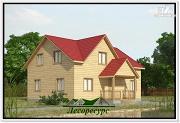 Фото: дачный дом 7 на 9 из бруса