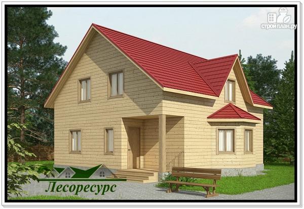 Фото: проект брусовой дом из бруса с эркером