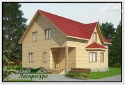 Проект брусовой дом из бруса с эркером