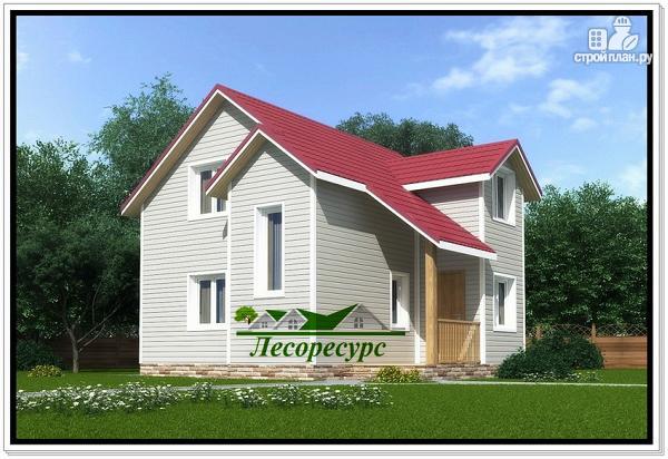 Фото: проект каркасный дом с мансардой