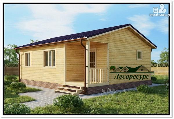 Фото: проект одноэтажный дом с двускатной крышей