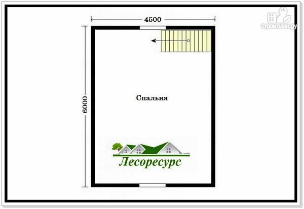Фото 3: проект небольшой дом с террасой из бруса
