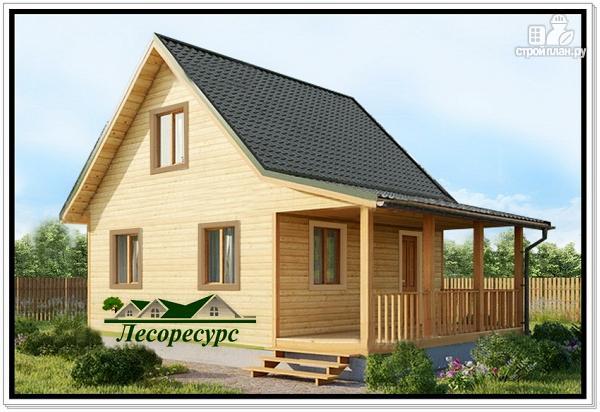 Фото: проект небольшой дом с террасой из бруса
