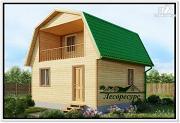 Фото: небольшой дом с ломаной крышей