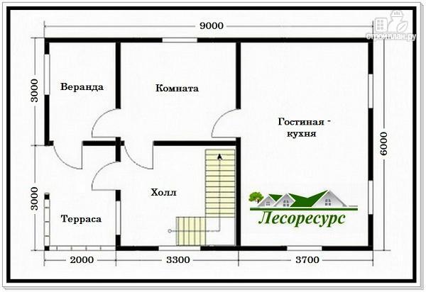 Фото 2: проект дом с большой кухней – гостиной