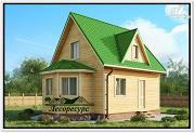 Проект дом из бруса 6 на 8 с эркером