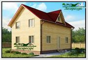 Проект двухэтажный дом 6 на 9 из бруса