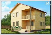Проект двухэтажный дом 8 на 8