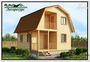 Проект дом 6 на 6 с крыльцом и мансардой