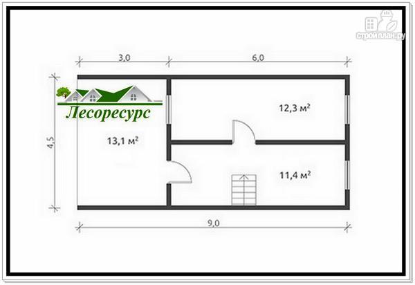 Фото 3: проект дом-баня из бруса 6 на 9 с мансардой