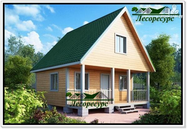 Фото: проект дом из бруса