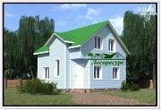 Проект каркасный дом с двумя спальнями