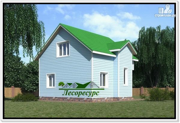 Фото 2: проект каркасный дом с двумя спальнями