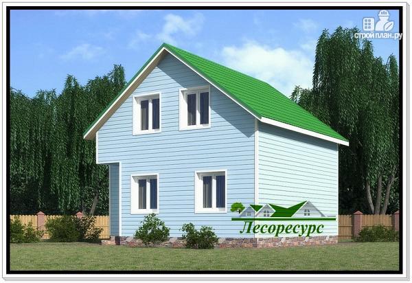 Фото 3: проект каркасный дом с двумя спальнями
