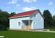 Фото: каркасный дом с мансардой