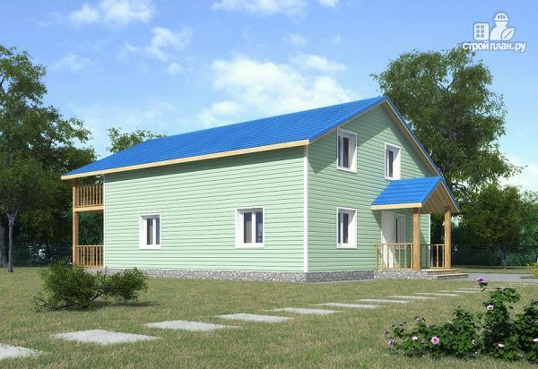 Фото 4: проект каркасный дом с мансардой