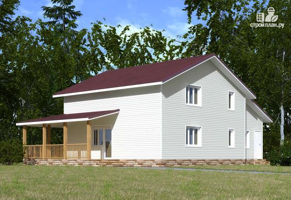Фото 4: проект каркасный дом с мансардой и гаражом