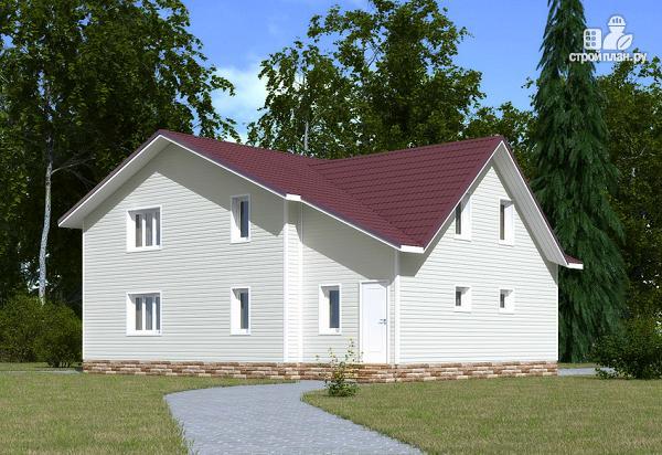Фото 3: проект каркасный дом с мансардой и гаражом