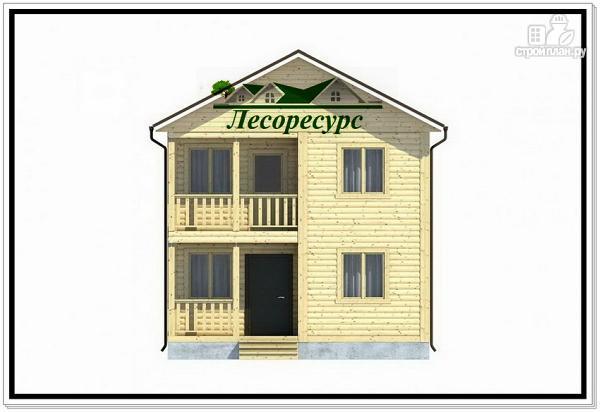 Фото 2: проект небольшой каркасный двухэтажный дом