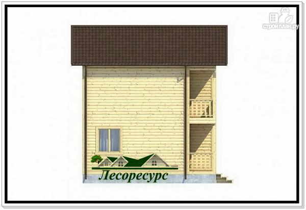 Фото 3: проект небольшой каркасный двухэтажный дом