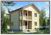 Проект небольшой каркасный двухэтажный дом