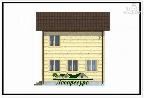 Фото 5: проект небольшой каркасный двухэтажный дом