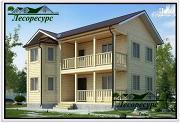 Проект двухэтажный каркасный дом 7 на 9