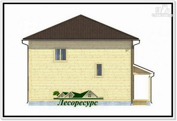 Фото 4: проект каркасный дом с четырёхскатной крышей