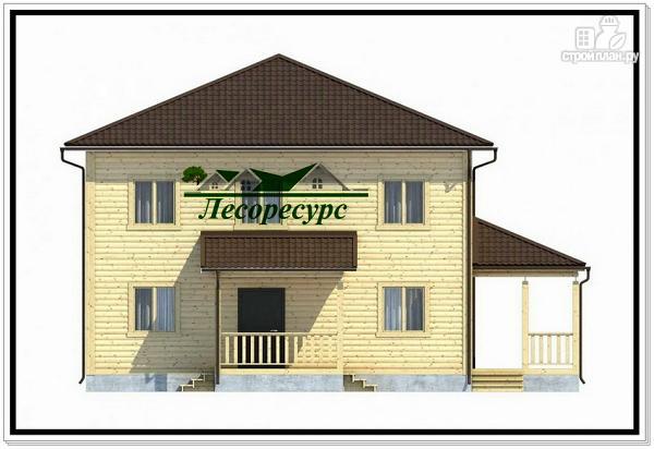 Фото 3: проект каркасный дом с четырёхскатной крышей