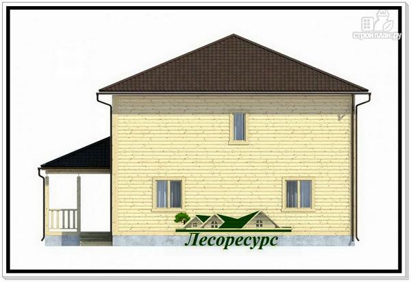 Фото 5: проект каркасный дом с четырёхскатной крышей