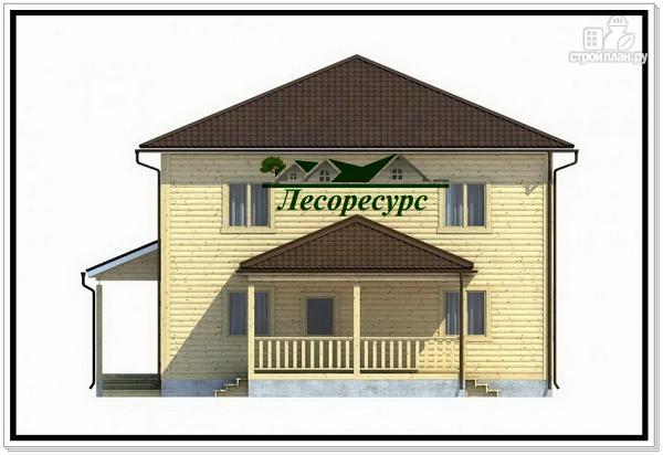 Фото 2: проект каркасный дом с четырёхскатной крышей