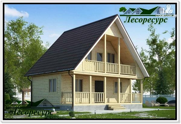 Фото: проект каркасный дом 7.5 на 8 с террасой