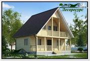 Проект каркасный дом 7.5 на 8 с террасой