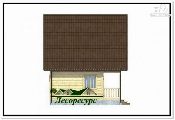 Фото 3: проект каркасный дом 7.5 на 8 с террасой