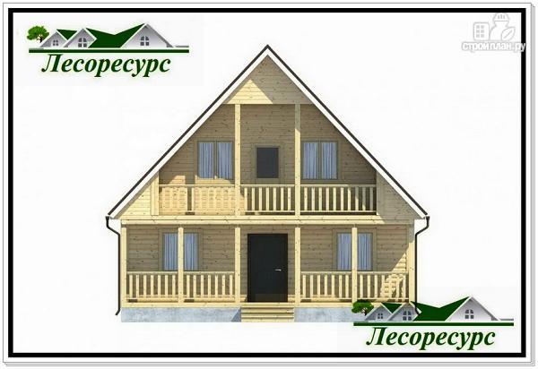 Фото 2: проект каркасный дом 7.5 на 8 с террасой
