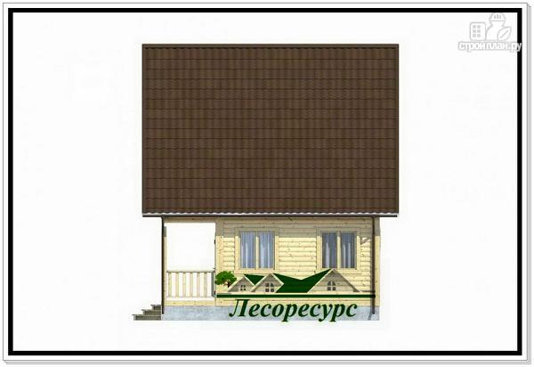 Фото 5: проект каркасный дом 7.5 на 8 с террасой